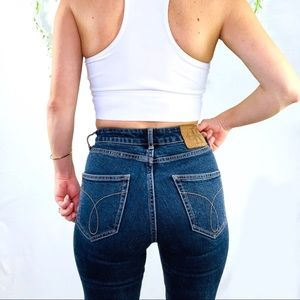 Calvin Klein   high rise skinny jeans 25